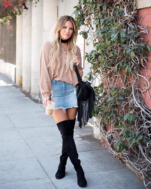 Our girl @beccatilley has the ultimate street style  See more from our shoot on @beccatilleyblog!