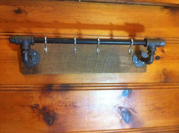 Industrial Pipe and Barn Wood  Coat Hooks / by DowntownHomemades