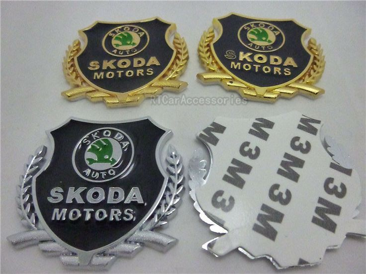 [FAST SHIPPING] 2pcs/lot Skoda Door Sticker For Skoda Octavia Fabia Superb Skoda Motors Wing Badge $11.98