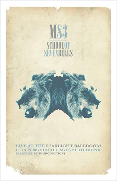 M83, 2008Posters Alternative, Posters Archives, Events Posters, Gig Posters, Posters Concierto, Posters Design, Gigposters Com, Music Posters, M83 Posters