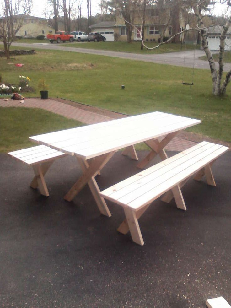 Lifetime 6 ft. Folding Picnic Table with Benches-22119 ...