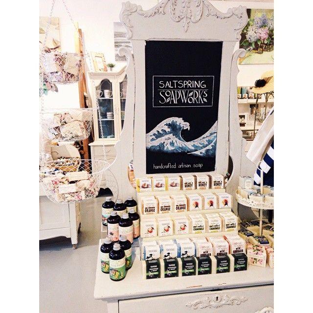 Brilliant soap display. Button Box Boutique Chilliwack BC