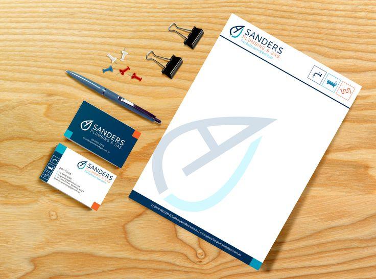 AJ Sanders Plumbing & Gas // Logo design & branding identity package