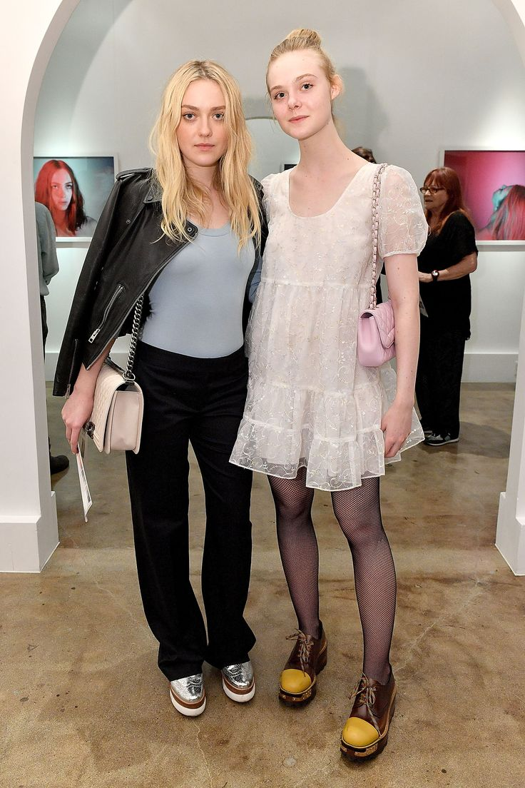 Dakota Fanning & Elle Fanning - Anton Yelchin Photography Exhibit Opening in Los Angeles 11/5/16