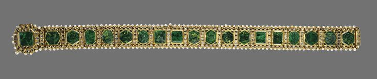 Emerald girdle of Maharajah Sher Singh | The Royal Collection