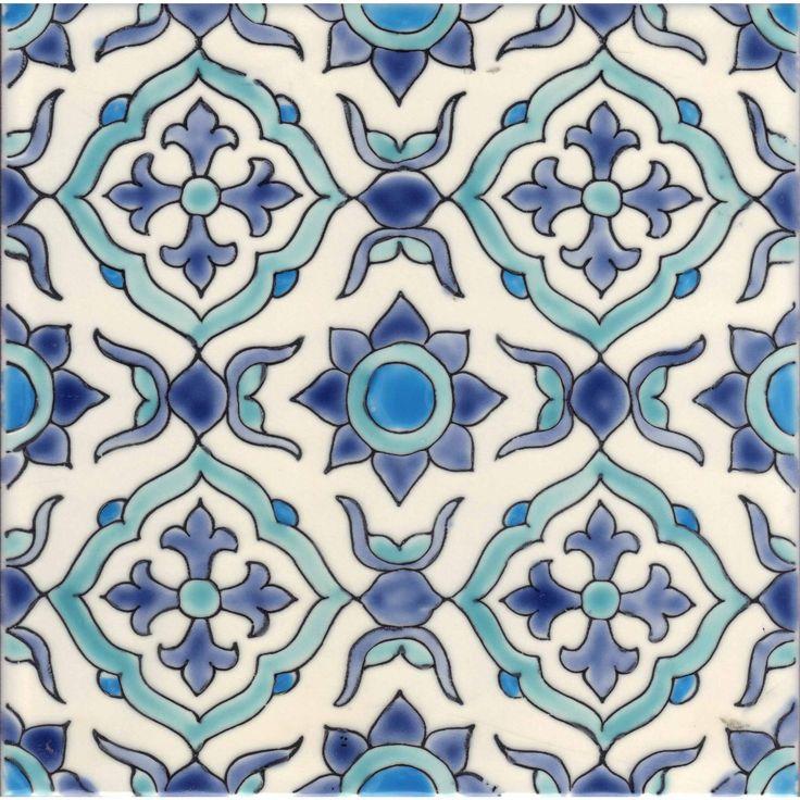 Maya Handpainted Ceramic Tile