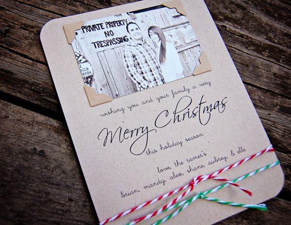 Christmas card idea--easy to diy: Cards Ideas Easy, Cards Gifts Bags Etc, Simple Christmas Cards, Christmas Holidays, Cards Christmas, Cards Diy, Christmas Ideas, Cards Handmade, Diy Christmas Cards