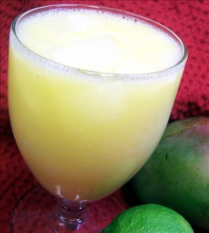 Paradise Mango Lemonade from Food.com: This is my first recipe post. Made this for a school project and was a real crowd pleaser. I had it with fresh squeezed lemonade, even though everybody love both, this one was preferred. Very healthy, too. It's a Belizean recipe.
