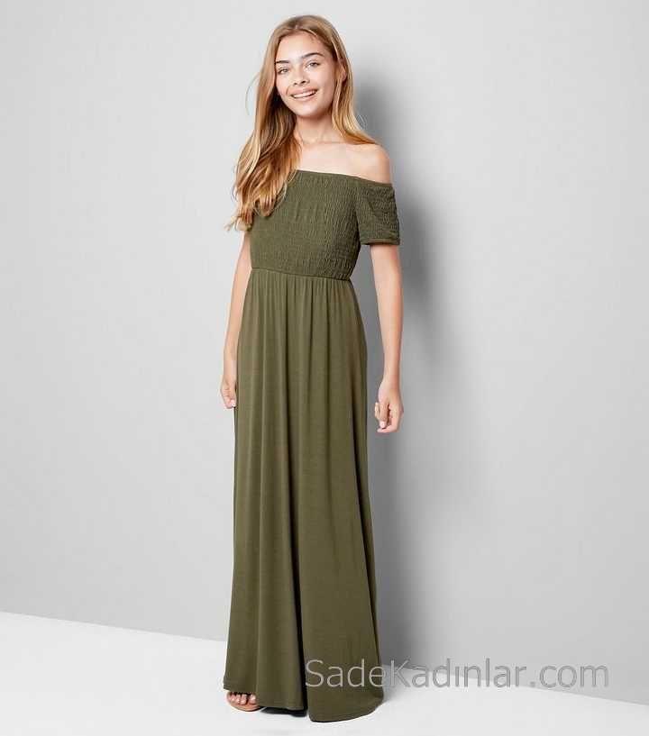 2020 Cocuk Abiye Elbise Yesil Uzun Omzu Acik Dusuk Kol Burumcuk Kiz Cocuk Elbise Nedime Giysileri Elbise Kiz Cocuklar