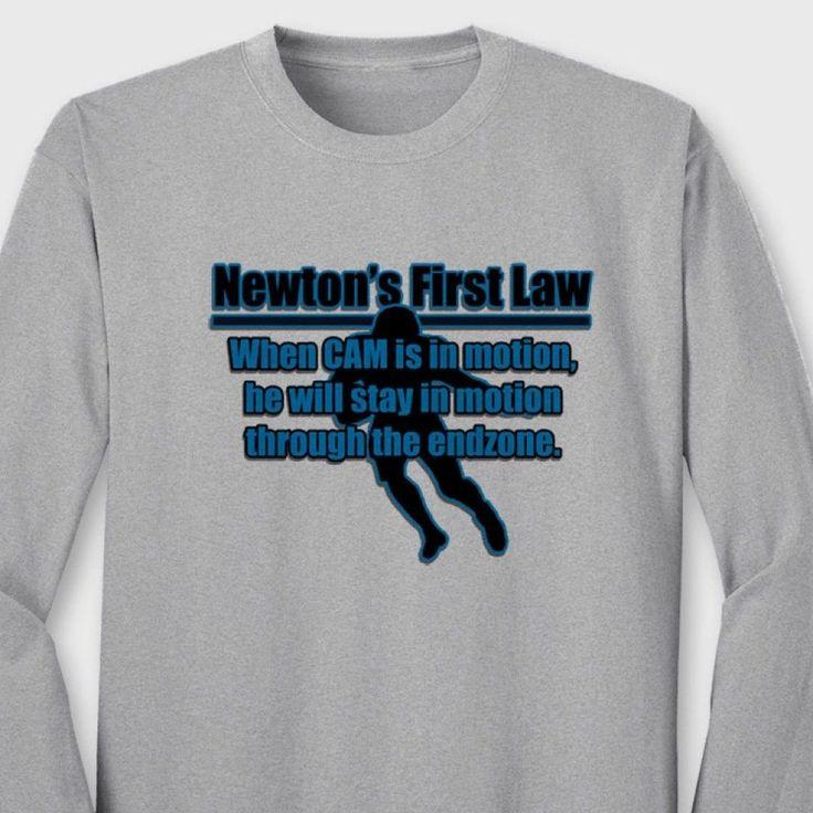 NEWTONS First Law Carolina Panthers T-shirt #1 Cam Newton Long Sleeve Tee #TheShirtGeek