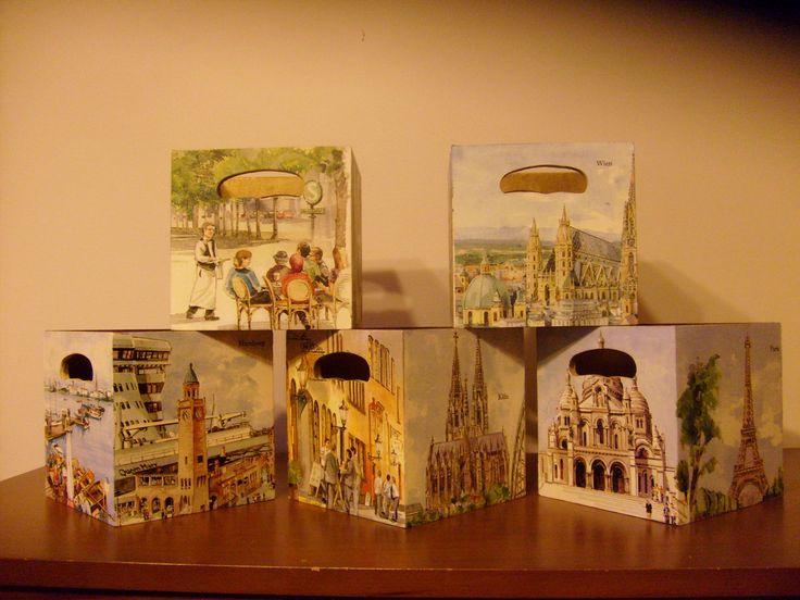 şehir kutuları/city boxes (15X15 cm.)