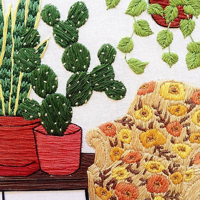 closeup on the embroidered works by artist Sarah K. Benning.  See more on HonestlyWTF.