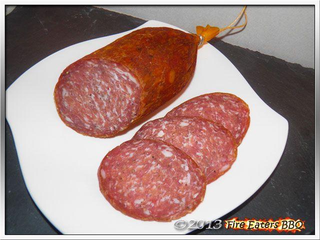 Rotwein-Salami selbst gemacht