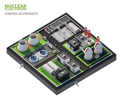 """Check out new work on my @Behance portfolio: """"Nuclear plant station"""" http://be.net/gallery/46772819/Nuclear-plant-station"""