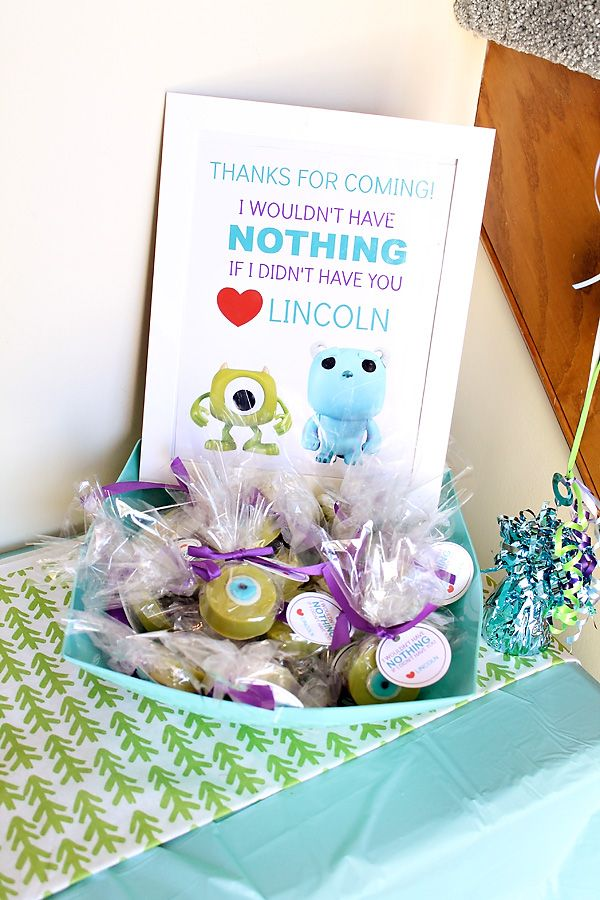 Monsters Inc. Themed Birthday Party