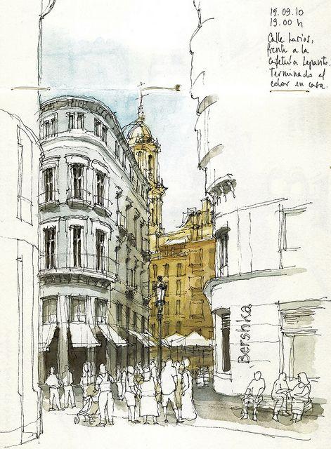 crowded street, Madrid by Luis_Ruiz, via Flickr