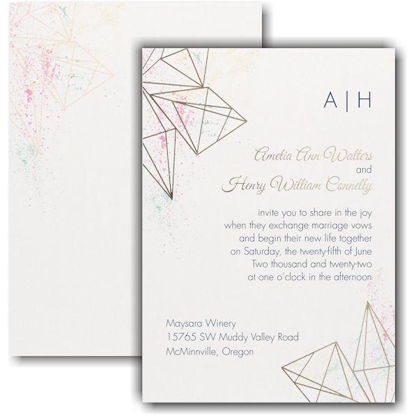 Darling Geometric Wedding Invitation Geometric Wedding Invitation Wedding Invitations Geometric Wedding