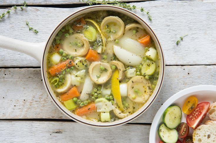 Mijoté d'artichauts et de légumes au thym et au citron #recettesduqc #legumes