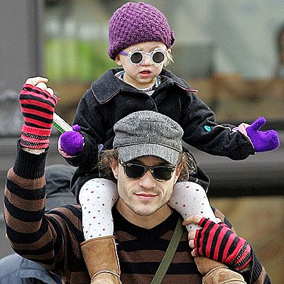 Heath Ledger with daughter Matilda