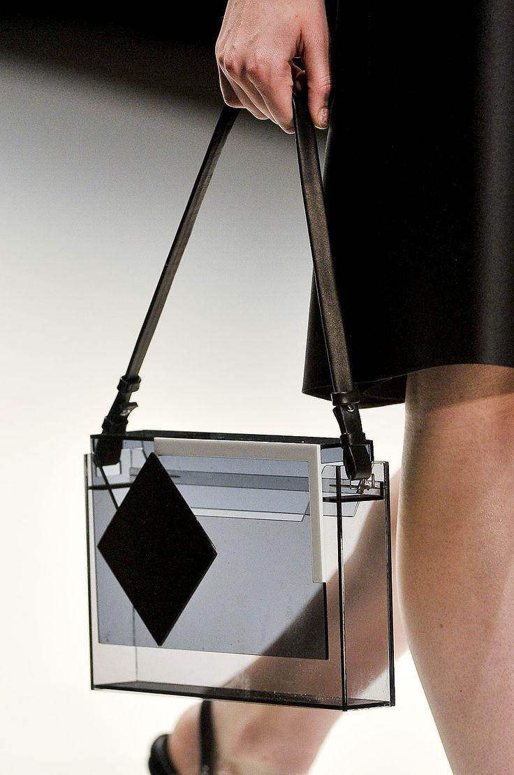 Clear perspex handbag, transparent fashion details // Jasper Conran S/S 2012