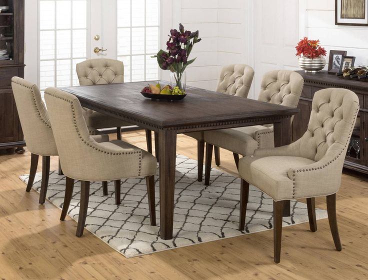 Shop For The Jofran Geneva Hills Large Table And Upholstered Chair Set At Value City Furniture