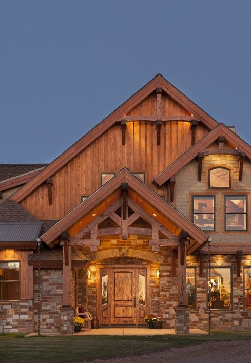 : Timber Frame Homes » Arizona Timber Frame Home » Show Low Front Entry