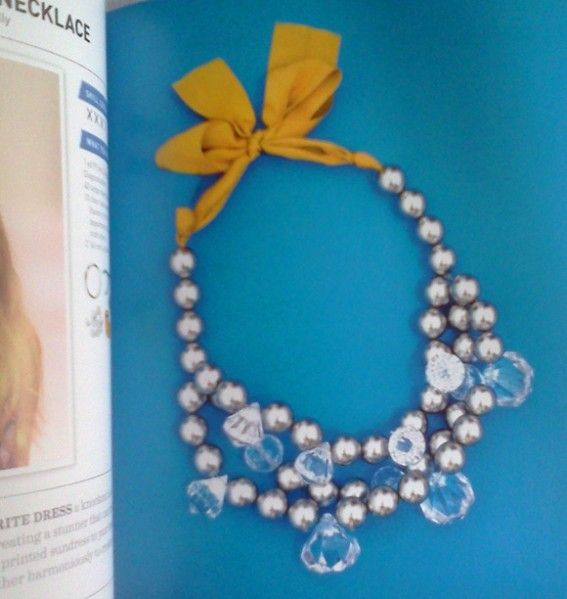 You can get these blingy crystals at the dollar store - love this necklace in I Spy DIY Style - the silver beads are gorgeous