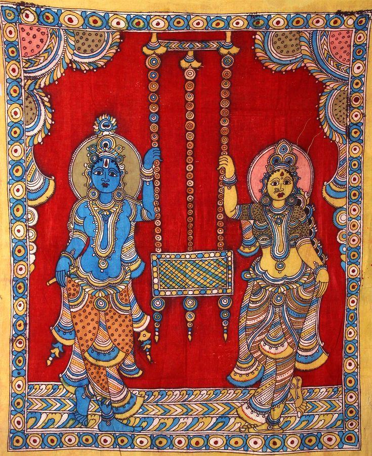 Kalamkari-by-Gurappa-Chetty-3.jpg 857×596 pixels | Kalamkari | Pinterest