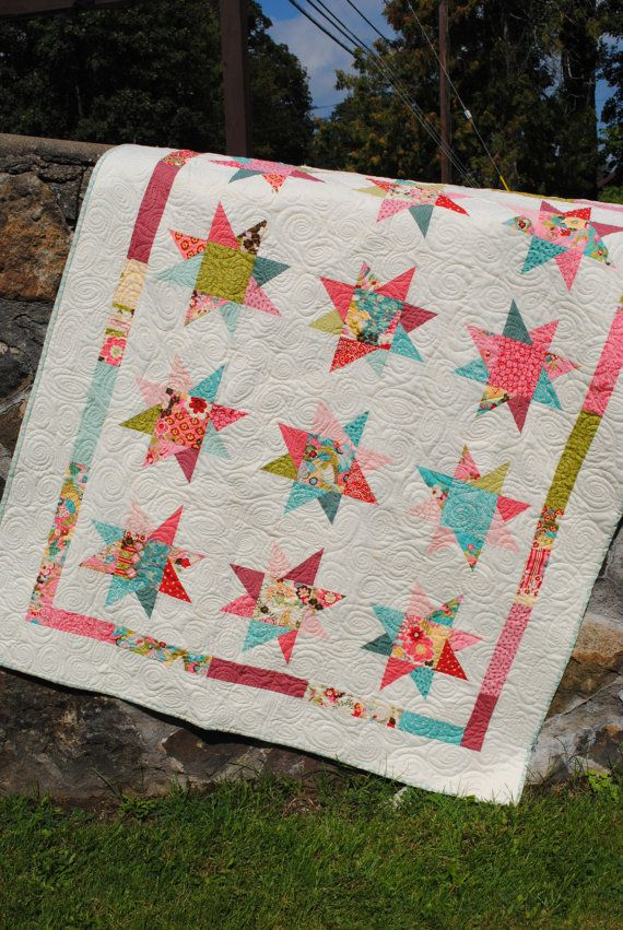 PDF Quilt Pattern.... Lap Quilt size, Quick and Easy ...