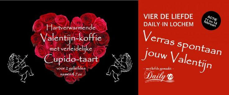Gezellige Valentijn actie in hartje Lochem, met veel liefde.