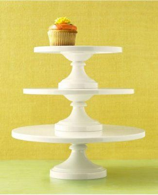 Martha Stewart Collection Whiteware Cakestands   I Think These Are  Discontinued, But I Love The Clean Lines (no Frills) And Sizes: And