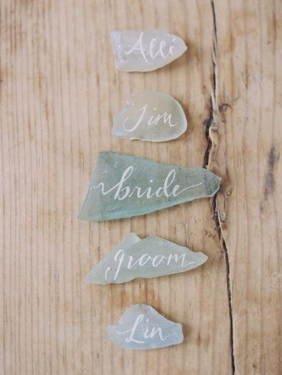 Beautiful wedding name tags.