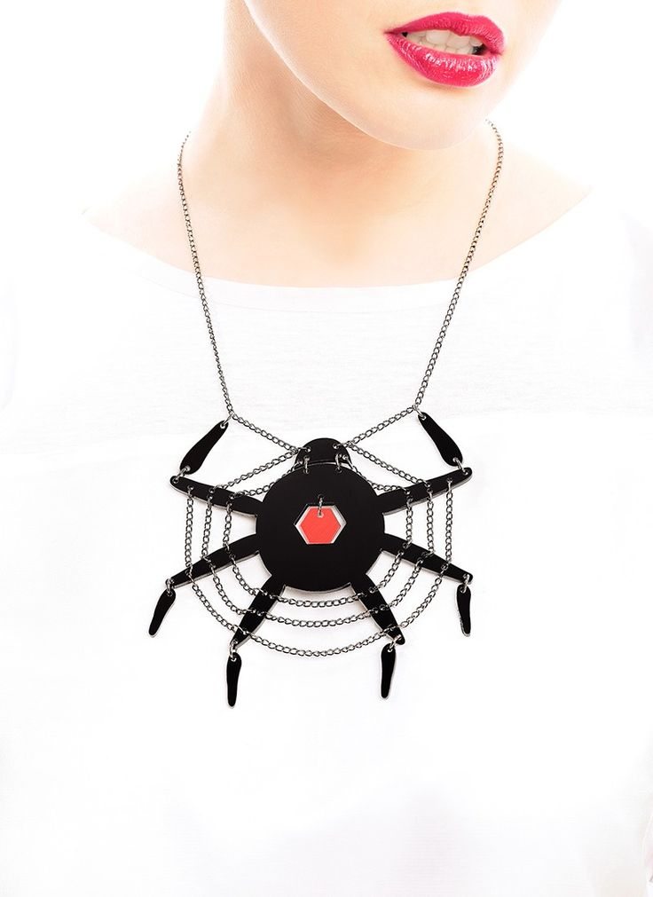 Spiderweb Necklace via LIFE IN MONO. Click on the image to see more!