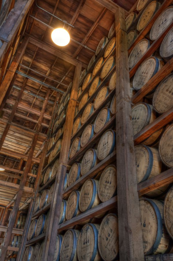 Barrels of Bourbon Aging I practically grew up in those warehouses-my father was a Treasury agent.