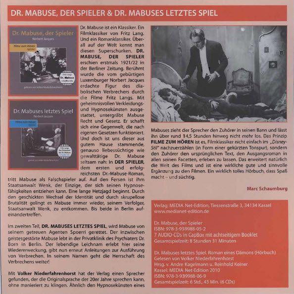 """Hörbücher, die süchtig machen: Besprechung unserer MABUSE-Hörbücher in der Filmzeitschrift """"35 mm, Nr. 5, Oktober 2014""""!"""