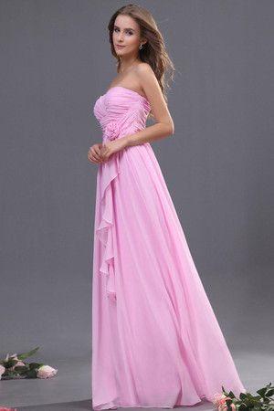 Robe demoiselle d'honneur naturel luxueux de traîne courte en chiffon de lotus