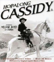 First significant Western to appear on network television was The Hopalong Cassidy Show, which began in 1949. It starred movie-cowboy legend William Boyd as Hopalong, a character he had played in sixty-six movies between 1935 and 1948.  In the Hopalong Cassidy Show on television, Hoppy was still owner of the Bar 20 Ranch and had a sidekick, Red Connors, who was the perfect foil for Cassidy, who, unlike most cowboys heroes, dressed all in black and, with snow-white hair, cut quite a fugure ...Hopalong Cassidy, Cowboy Heroes, Beautiful White, Stars Movie'S Cowboy, Roy Rogers, Movie'S Cowboy Legends, Network Television, Remember Hiding, Legends Williams