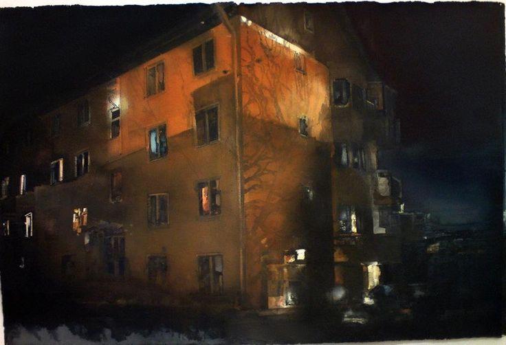 Lars Lerin #watercolor