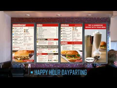Smashburger Digital Menu Board Content Shows Food Choices in Upscale, Modern Way | Digital Signage Connection
