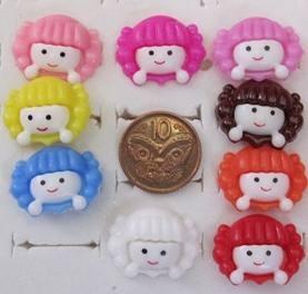 10x Dolls Head Buttons
