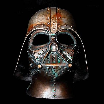 Steampunk Darth Vader Rusted Battle Damaged Helmet By