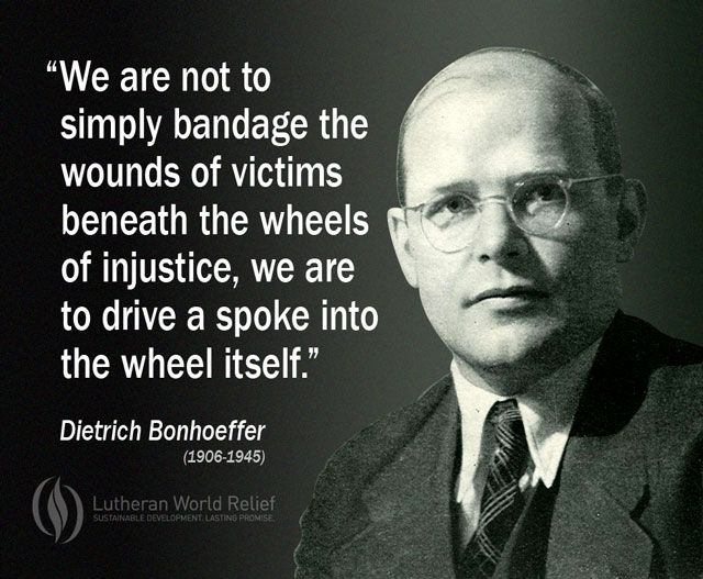 I respect the braveness of Dietrich Bonhoeffer because he stood up against the Nazis because he believed they were wrong, even though it led to his own death.  #onebravething