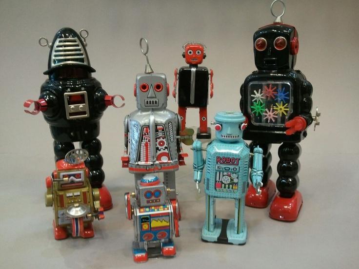 Vintage style robot toys!