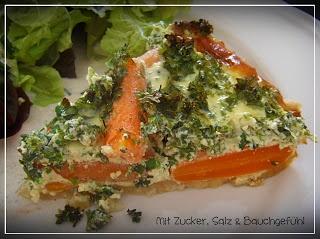 Karotten-Kräuter-Quiche