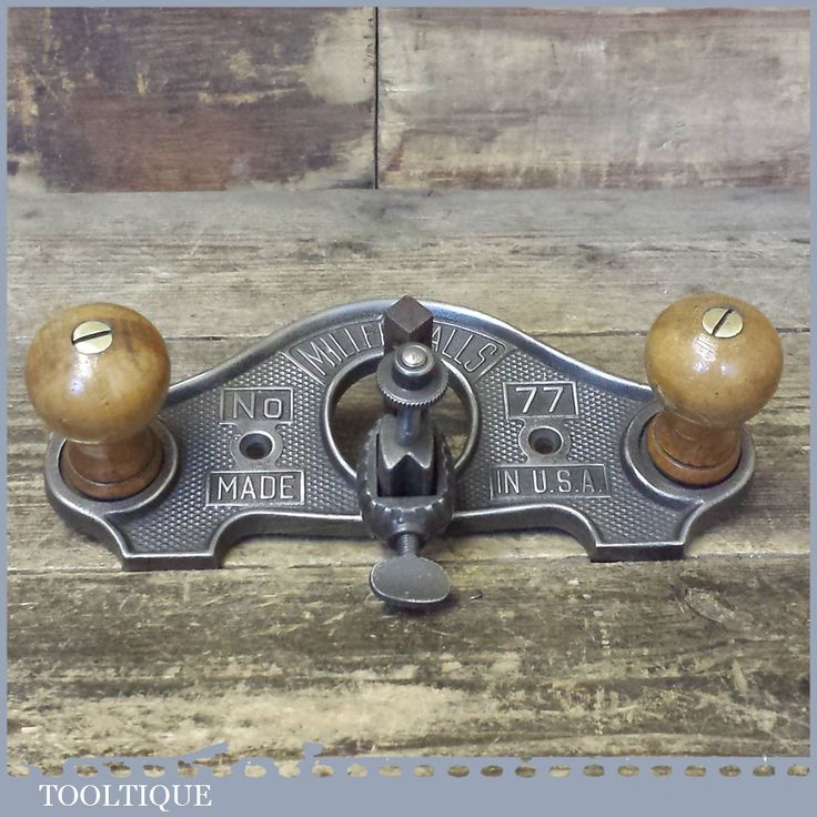 Vintage Miller Falls USA No: 77 Closed Throat Hand Router Plane