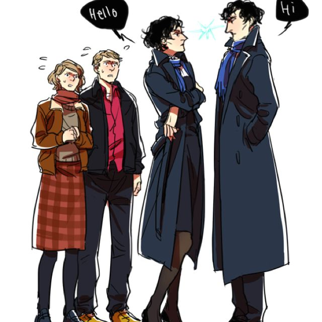 Femlock Meets Sherlock by ilikedetectives. << Now this is something i would /love/ to see