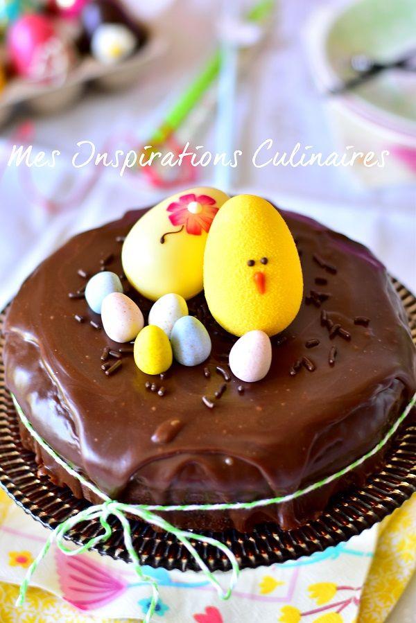 Gâteau nid de Paques au chocolat et mascarpone