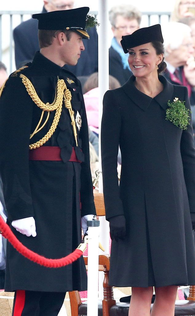 Kate Middleton and Prince William Greet Cadets With Shamrocks During St. Patrick's Day Parade in England?See the Pics!