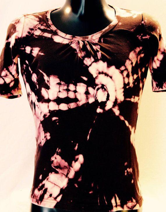 T-shirt pour femme tie-dye inversé par Letnoun sur Etsy