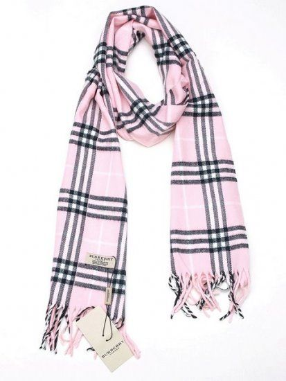 Burberry Pink Plaid Scarf Classic  $33.99
